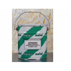Catramina Naici vernice bituminosa per la protezione del ferro e del legno lt 1