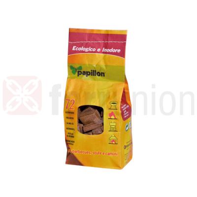 Accendifuoco ecologico e inodore Papillon 72 pz