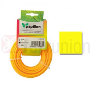 Filo nylon quadrato per decespugliatore d. 3 mm 10 mt Papillon