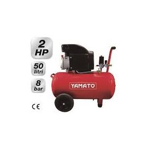 """Compressore elettrico carrellato Mod. 50/2 M1CD – By """"Yamato"""" Lt. 50 – Hp. 2"""
